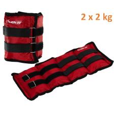 MOVIT bokasúly, 2 x 2,0 kg - piros női edző felszerelés