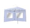 Összecsukható kerti parti sátor Profi – fehér, 3 x 3 m + 2 oldalfallal party kellék