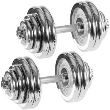 Egykezes súlyzó szett, krómozott - MOVIT 2 x 30 kg kézisúlyzó