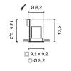 Schrack Technik CONTONE, 16W, 890lm, 3000-2000K fényerőszab., kerek, fehér