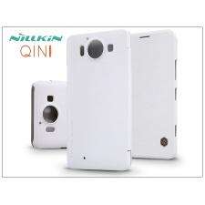 Microsoft Lumia 950 oldalra nyíló flipes tok - Nillkin Qin - fehér tok és táska