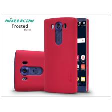 LG V10 H900 hátlap képernyővédő fóliával - Nillkin Frosted Shield - piros tok és táska