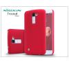 LG K10 K420N hátlap képernyővédő fóliával - Nillkin Frosted Shield - piros tok és táska