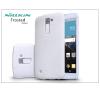 LG K10 K420N hátlap képernyővédő fóliával - Nillkin Frosted Shield - fehér tok és táska
