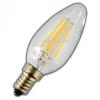 V-tac LED lámpa , égő , izzószálas hatás , gyertya , E14 foglalat , 4 Watt , 300° , meleg fehér