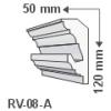 LEDvonal RV-08/A , Rejtett világítás díszléc , holker