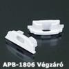 Véglezáró APB-1806 hajlítható alu LED profilhoz