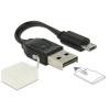 DELOCK CARD READER DELOCK USB OTG Micro SD kártyaolvasó fekete (91709)