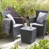 ALLIBERT Iowa műrattan kerti karfás szék, fotel szürke -22%!!!