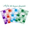 Nyomell franciakockás füzet A/4 88-32 32 lapos