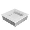 Fehér Szellőzőrács Oscar 17x17