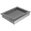 Kratki Fekete Ezüst Szellőzőrács Standard 22x30