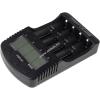 Powery akkutöltő LA-A400 NiCd / NiMH- AA (ceruza akku) /AAA SC/C és 3,7V Li-Ion Akku/Akkucella