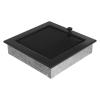 Kratki Fekete Szellőzőrács Standard 22x22 Redőnnyel
