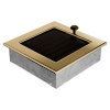 Kratki Arany - galvanizált Szellőzőrács Standard 17x17 Redőnnyel