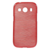 Samsung Glaxy Ace 4 Tok Szilikon Szálcsiszolt Mintázattal Piros