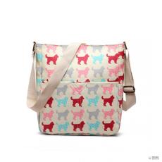LC1645NDG - Miss Lulu London kicsimattte Oilcloth szögletes táska Dog
