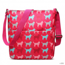 LC1644NDG - Miss Lulu London Regularmattte Oilcloth szögletes táska Dog Plum