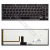 Toshiba AEBU6400020-HU gyári új, háttérvilágításos magyar laptop billentyűzet