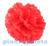 Dekor lampion virág papír 10cm piros SSS dekorációs kellék