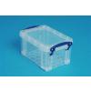 REALLY USEFUL Műanyag tárolódoboz, átlátszó, 0,7 liter, REALLY USEFUL