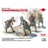 ICM French Infrantry (1916) figura makett ICM 35691