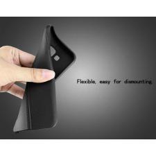 Microsoft Lumia 550 hátlap képernyővédő fóliával - IMAK Vega Leather - fekete tok és táska