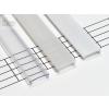Magasított tejfehér takaróprofilok 1 méteres profilokhoz