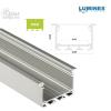 Led profil led szalagokhoz Beépíthető Széles Mély Ezüst 2 méteres alumínium