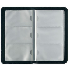 Herlitz - Névjegykártyatartó műbőr, fekete, 96 kártyához
