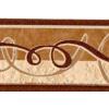 Beige-sötétbarna hullám mintás bordűr
