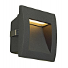 Schrack Technik Downunder OUT LED S, fali, beépíthető 1,7W, 3000K, antracit