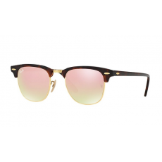 Ray-Ban RB3016 990/7O CLUBMASTER SHINY RED/HAVANA COPPER FLASH GRADIENT napszemüveg