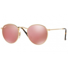 Ray-Ban RB3447N 001/Z2 ROUND METAL SHINY GOLD COPPER FLASH napszemüveg