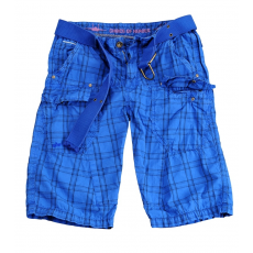 Alpha Industries Checked Short - royal kék