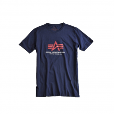 Alpha Industries Basic Foam Print T - replica blue