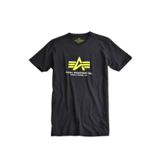 Alpha Industries Basic Foam Print T - fekete