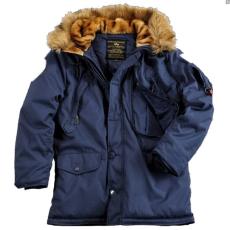 Alpha Industries Polar Jacket RF felvarró nélkül  valódi szőrmével - replica blue