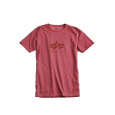 Alpha Industries Oil Dye Basic T - burgundy
