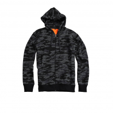 Alpha Industries X-Fit Zip Hoody - fekete terep