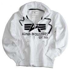 Alpha Industries Big A Classic Zip Hoody - fehér pulóver