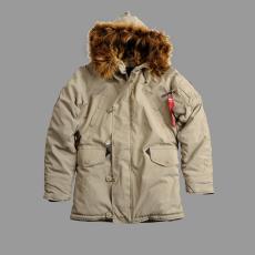 Alpha Industries Explorer női felvarró nélkül - khaki színű kabát
