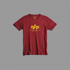 Alpha Industries Basic T - burgundy póló