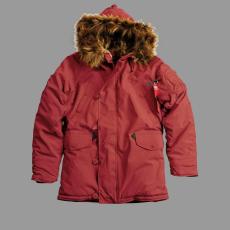 Alpha Industries Explorer - burgundy színű kabát
