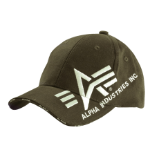 Alpha Industries Big A Cross Cap baseball sapka - olive
