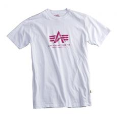 Alpha Industries Basic T - fehér/ lila póló