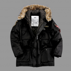 Alpha Industries Mountain Parka - fekete