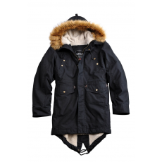 Alpha Industries Hooded Fishtail III - fekete