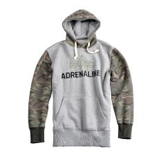 Alpha Industries Adrenaline Hoody - szürke kapucnis pulóver