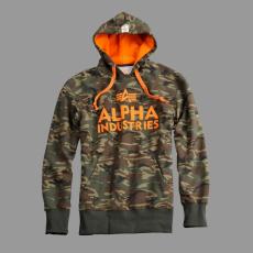 Alpha Industries Foam Print Hoody - terepszín